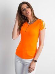 Fluo pomarańczowy t-shirt damski