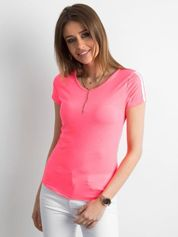 Fluo różowy t-shirt damski