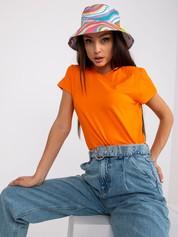 Fluopomarańczowy t-shirt Peachy