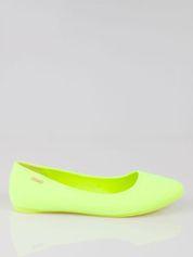 Fluozielone lekkie baleriny