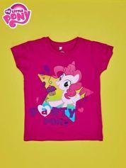 Fuksjowy t-shirt dla dziewczynki nadruk MY LITTLE PONY