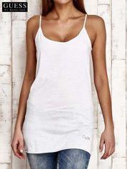 GUESS Biały top na cienkich ramiączkach