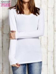 Gładka bluzka biała