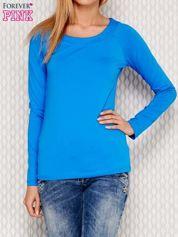 Gładka bluzka niebieska