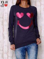 Grafitowa bluza z motywem emoji