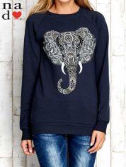 Grafitowa bluza z nadrukiem słonia