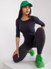 Grafitowa bluzka Mona
