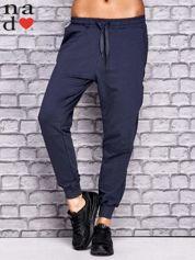 Grafitowe spodnie dresowe z zasuwaną kieszonką