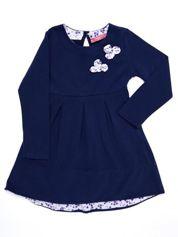 Granatowa bawełniana sukienka dziecięca