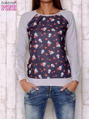 Granatowa bluza z nadrukiem pand