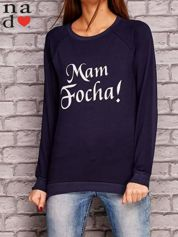 Granatowa bluza z napisem MAM FOCHA