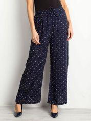 Granatowe spodnie Gentle