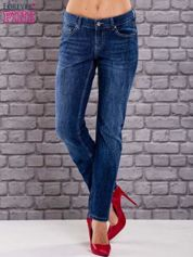 Granatowe spodnie jeansowe marble denim