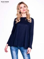 Granatowy klasyczny sweterek