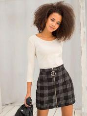 Jasnobeżowa bawełniana bluzka basic