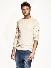 Jasnobeżowa bluza męska z suwakami