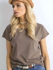 Jasnobrązowy t-shirt Circle