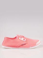 Jasnoczerwone miękkie buty casualowe damskie