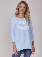 Jasnoniebieska bluzka GIRL POWER