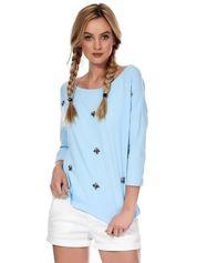 Jasnoniebieska bluzka z diamencikami