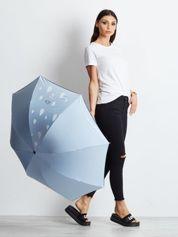 Jasnoniebieska mała składana parasolka