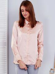 Jasnoróżowa satynowa koszula