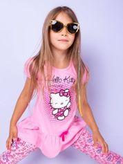 Jasnoróżowa tunika dla dziewczynki nadruk HELLO KITTY