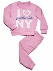 Jasnoróżowy komplet dla dziewczynki bluza i spodnie dresowe