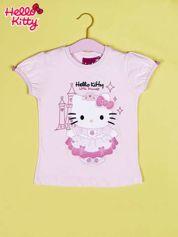 Jasnoróżowy t-shirt dla dziewczynki HELLO KITTY