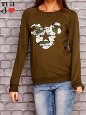 Khaki bluza z nadrukiem moro