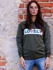 Khaki bluza z napisem LOVELY