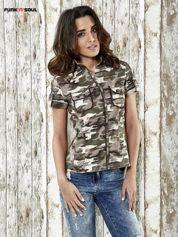 Khaki koszula w militarnym stylu Funk n Soul