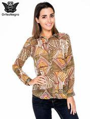 Khaki wzorzysta bluzka