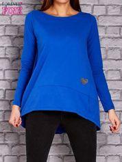 Kobaltowa bluzka z wiązaniem na plecach