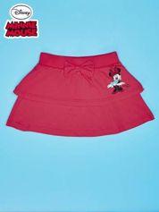 Koralowa spódnica dla dziewczynki z falbanami MINNIE MOUSE