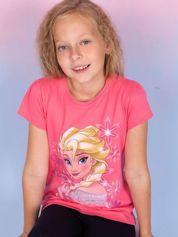 Koralowy t-shirt dla dziewczynki KRAINA LODU