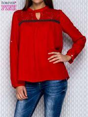 Koszula mgiełka czerwona z koronką