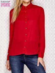 Koszula z ozdobnymi guzikami czerwona