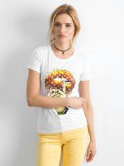 Koszulka damska z printem biała