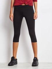 Krótkie lekko ocieplane legginsy sportowe czarne