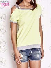 Limonkowy t-shirt z kokardą