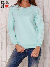 Miętowa gładka bluza