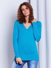 Morski sweter V-neck