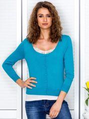 Morski sweter damski z guzikami