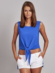 Niebieska bluzka z wiązaniem