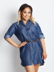 Niebieska sukienka plus size Confidence
