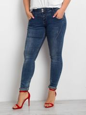 Niebieskie jeansy PLUS SIZE Corinee