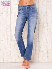 Niebieskie proste przecierane spodnie