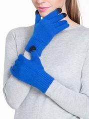 Niebieskie rękawiczki do obsługi ekranów dotykowych