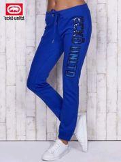 Niebieskie spodnie dresowe z cekinami